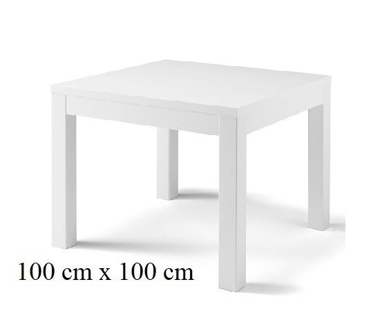 Vierkante Eettafel Hoogglans Wit.Eettafel Vierkant Forever Hoogglans Wit
