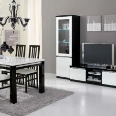 Tv Kast Zwart Wit.Tv Meubel Forever Chrome Hoogglans Zwart Wit Tv Plasma Tafels