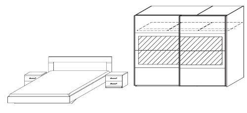 slaapkamer complete set venno eiken sonama lava grijs modern slaapkamers royal boxspring. Black Bedroom Furniture Sets. Home Design Ideas