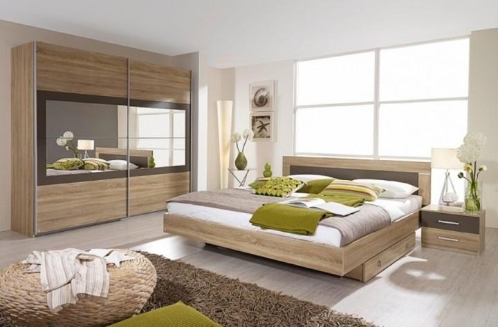 slaapkamer complete set packs 2 eiken sonama lava grijs