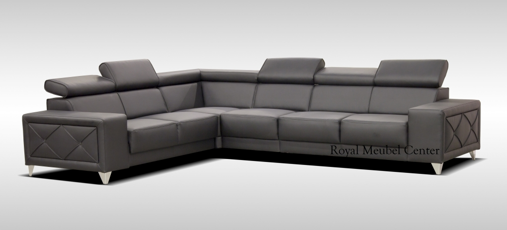 Hoekbankstel milano design hoek lounge bankstellen royal boxspring swiss bedden - Moderne hoek lounge ...