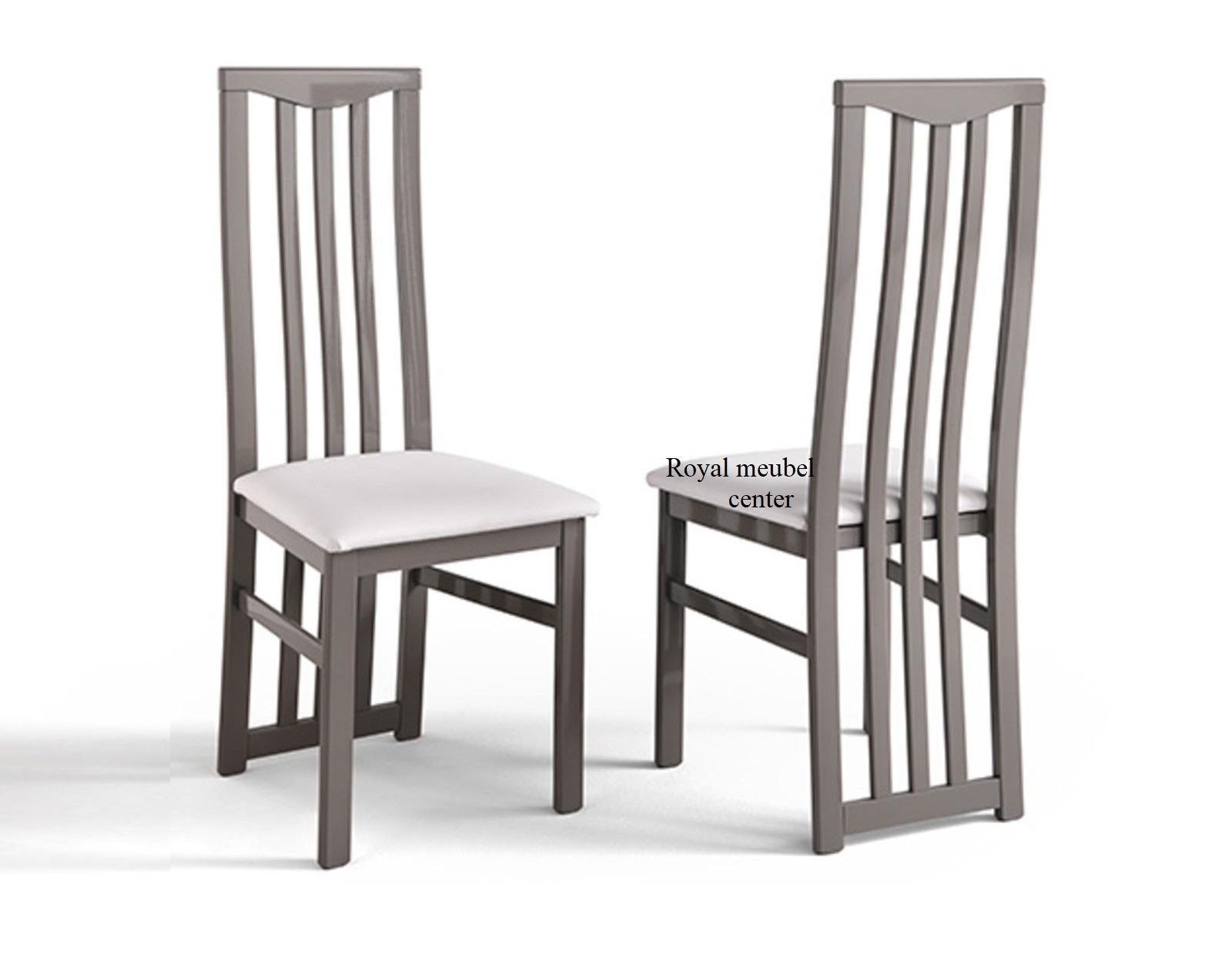 Witte Eetkamer Stoel : Eetkamerstoel italy hoogglans taupe grijs eetkamer stoelen royal