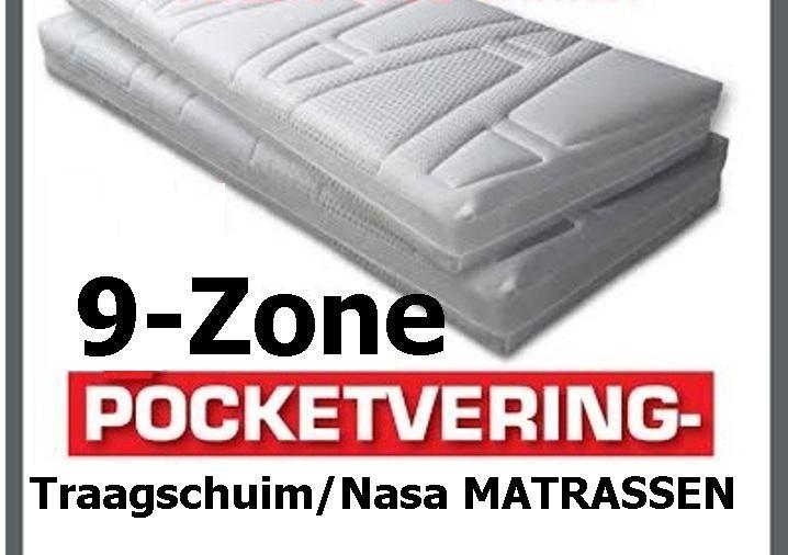 Pocketvering Matras Met Nasa Traagschuim.Pocketvering 9 Zone Nasa Traagschuim Matrassen