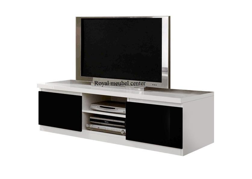 Glans Wit Tv Meubel.Tv Meubel Forever Hoogglans Wit Zwart Tv Plasma Tafels Royal