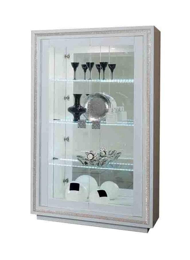 vitrinekast perla swarovski hoogglans wit vitrine barkasten