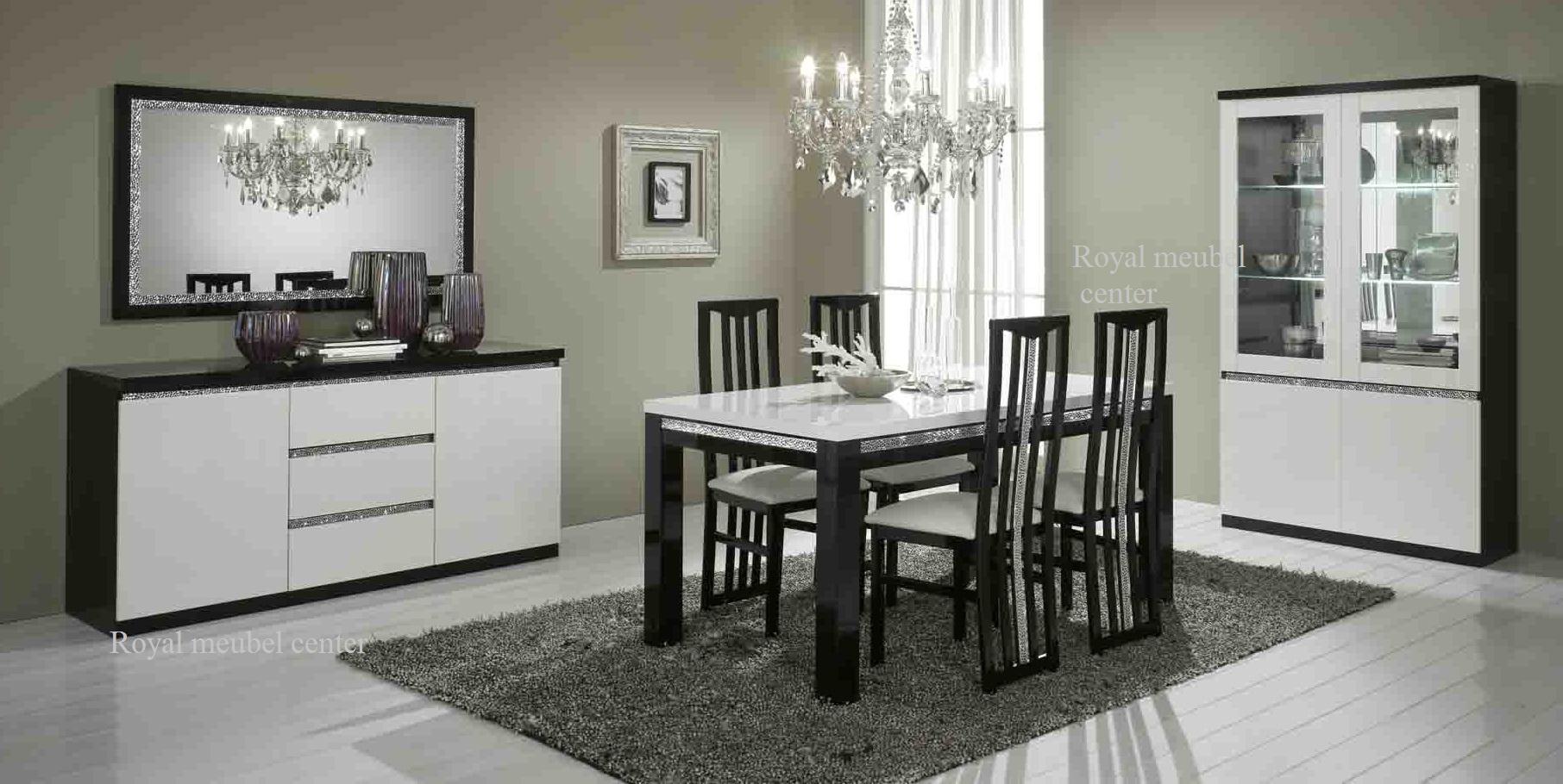 Good woonkamer meubel hoogglans zwart wit forever chrome for Meubel sale