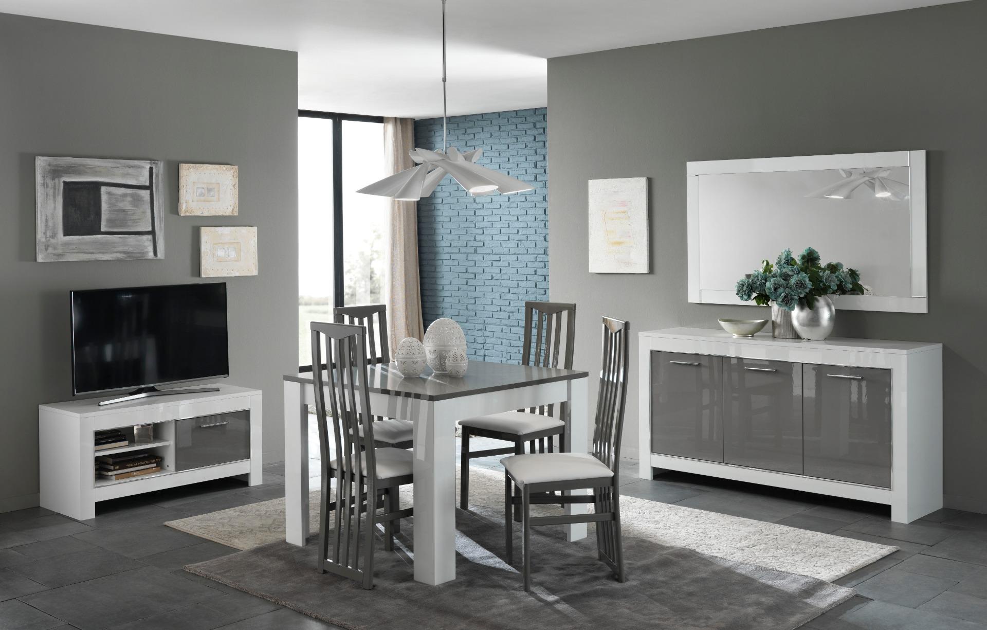Eetkamerstoel italy hoogglans taupe grijs eetkamer for Taupe woonkamer