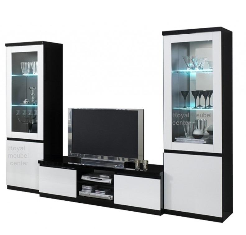 Wit zwart woonkamer for Compleet interieur woonkamer