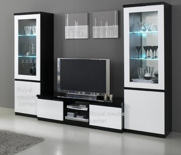 ... Woonkamers & Woonseries > Woonkamer meubel Hoogglans zwart wit